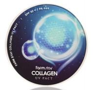 Пудра компактная с коллагеном FARMSTAY Collagen UV pact SPF 50/PA+++ №13 Светлый Беж 12г*2: фото