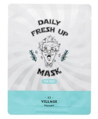 Маска с экстрактом чайного дерева VILLAGE 11 FACTORY Daily Fresh up Mask Tea Tree 20г: фото