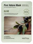 Маска тканевая с оливой Anskin Secriss Pure Nature Mask Pack-Olive 25мл: фото