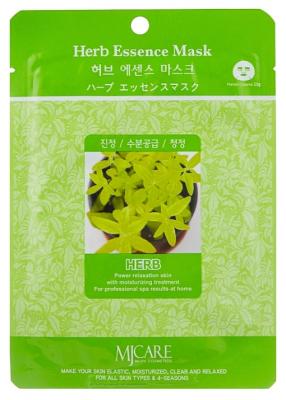 Маска тканевая экстракты трав Mijin Herb Essence Mask 23г: фото