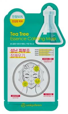 Маска для лица тканевая чайное дерево Mijin Uniquleen Tea Tree Essence Calming Mask 26гр: фото