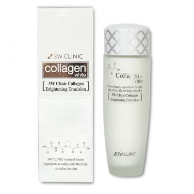Эмульсия осветляющая с коллагеном и ниацинамидом 3W CLINIC Collagen White Brightening Emulsion: фото
