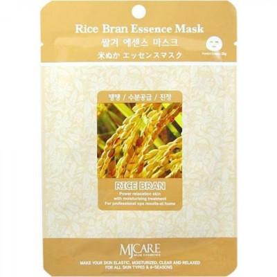 Маска тканевая Рисовые отруби Mijin Rice Bran Essence Mask 23г: фото