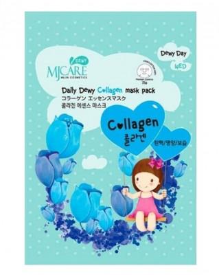 Маска тканевая с коллагеном Mijin Care Daily Dewy Сollagen Mask Pack 25г: фото