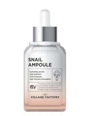 Сыворотка для лица с муцином улитки VILLAGE 11 FACTORY Snail Ampoule 50мл: фото