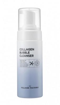 Очищающая пенка для умывания с коллагеном Village 11 Factory Collagen Bubble Cleanser 150мл: фото