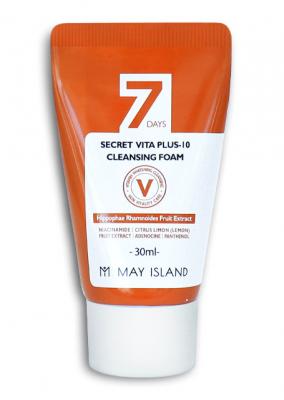 Очищающая пенка May island 7 Days Secret Vita Plus-10 Cleansing Foam 30мл: фото