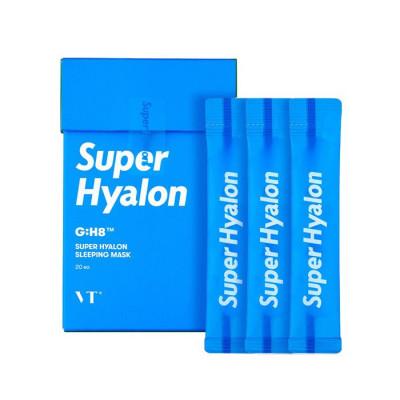 Ночная маска с гиалуроновой кислотой VT SUPER HYALON SLEEPING MASK 4мл*20шт: фото