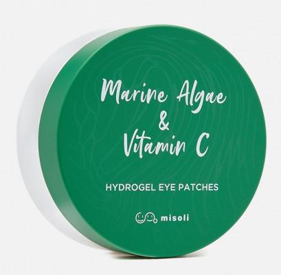 Гидрогелевые патчи для области вокруг глаз Морские водоросли и витамин С Misoli Marine Algae & Vitamin C Hydrogel Eye Patches 1,4г*60шт: фото