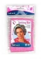 Сеточка-косынка для бигуди крупная Sibel розовая: фото