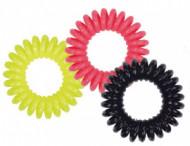 Набор спиральных резинок для волос Sibel Neon 3шт: фото