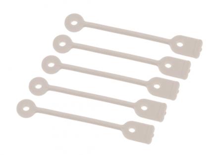 Хомут для коротких коклюшек резиновый Harizma Professional серый 50шт: фото