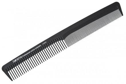 Расческа комбинированная узкая Harizma Professional Carbon Antistatic 18см: фото
