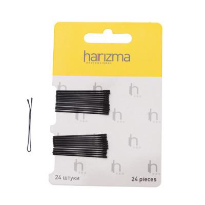 Невидимки прямые Harizma Professional 40мм 24шт черные: фото