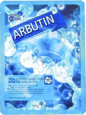 Маска тканевая с арбутином May Island Real Essence Albutin Mask Pack 25мл: фото